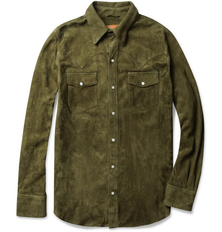 Jean Shop Suede Western Shirt MR PORTER