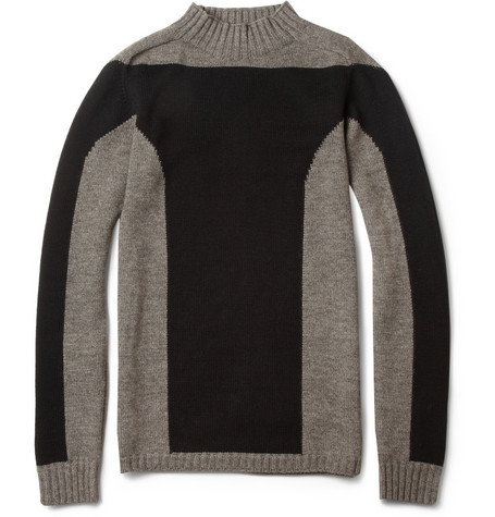 Rick Owens Panelled Wool Blend Sweater MR PORTER