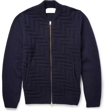 Oliver Spencer Stitched Wool Blend Cardigan Mr Porter