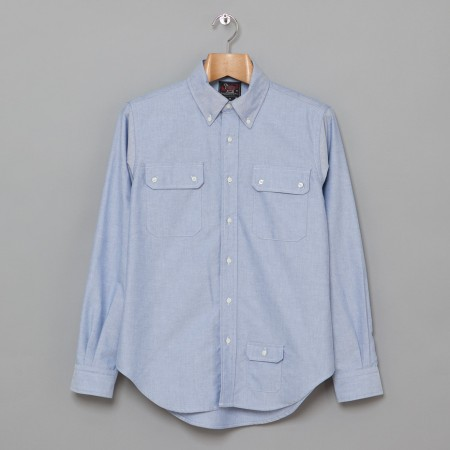 3 Pocket BD Shirt Blue Oxford Oi Polloi