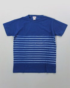Blue White Border Tee by Sunny Sports available to buy at The Bureau Belfast