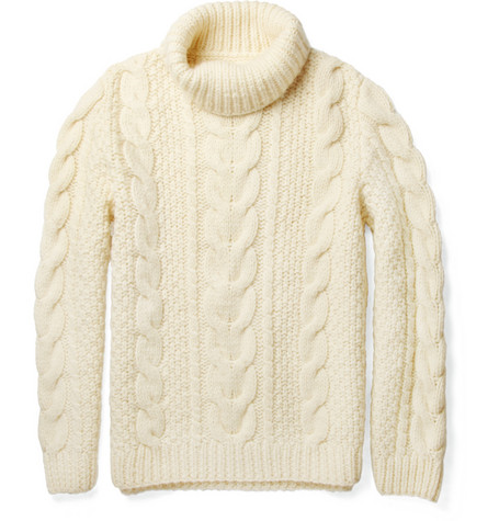 Maison Martin Margiela Chunky Cable Knit Wool Sweater MR PORTER