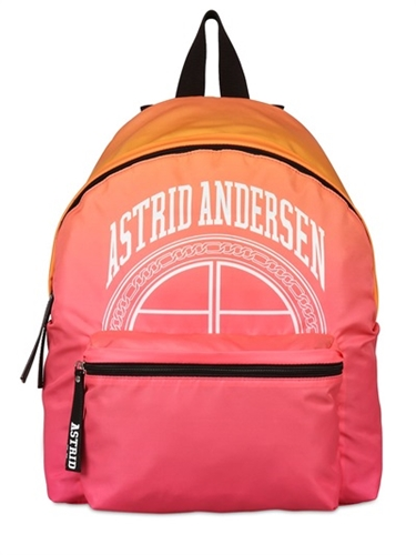 Astrid Andersen Logo Print Nylon Backpack Luisaviaroma Luxury Shopping Worldwide Shipping Florence