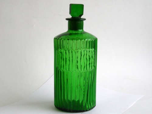 Antique Poison Bottle Apothecary Jar Green By Quirkytiques