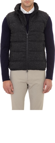 Aspesi Melange Down Filled Quilted Vest At Barneys.Com