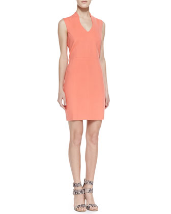 4.Collective Summer Ponte Sheath Dress Coral