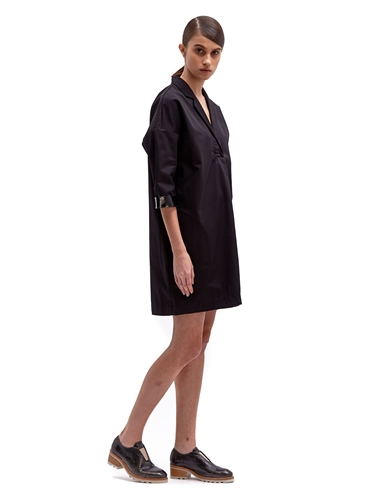 Acne Studios Women's Cotton Shift Patent Trim Dress Ln Cc