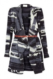 Multi Coloured Knited Coat By Ba Sh