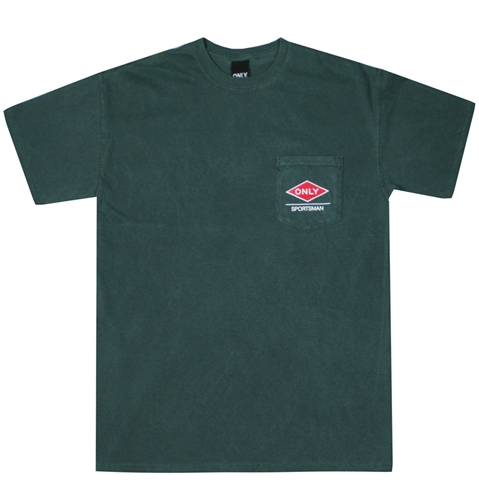 Only Ny Diamond Sportsman Pocket T Shirt In Vintage Green Huh. Store