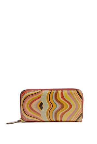 Paul Smith Accessories Swirl Zip Around Wallet by Paul Smith Accessories