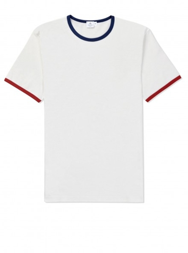 Short Sleeve Crew Neck T Shirt White Red Blue Short Sleeve T Shirts Men