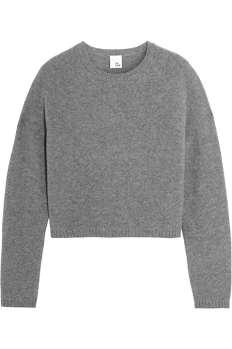 Effie Cropped Cashmere Sweater Iris Ink The Outnet