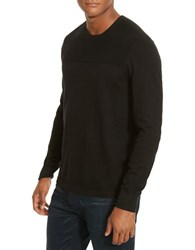 Kenneth Cole Textured Crewneck Sweater Black