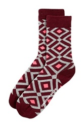 Jonathan Adler Diamond Crew Socks Multi