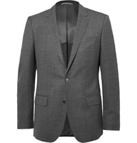 Hugo Boss Grey Slim Fit Virgin Wool Blazer Gray