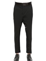Haider Ackermann Wool Gabardine Tuxedo Pants Black