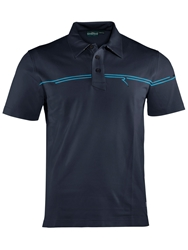 Chervo Achille Plain Polo Regular Fit Polo Shirt Navy