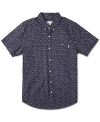Rip Curl Men's Flower Fun Short Sleeve Shirt Navy