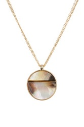 14Th And Union Triple Strand Disc Pendant Necklace Metallic