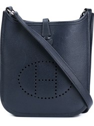 Herma S Vintage 'Evelyne Tpm' Crossbody Bag Blue