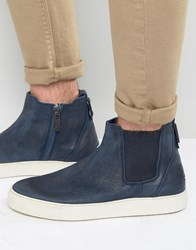 Tommy Hilfiger Denim Cupsole Chelsea Boots Navy