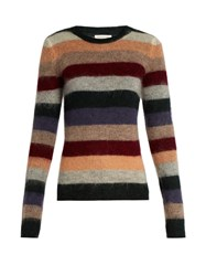 Etoile Isabel Marant Rainbow Striped Mohair And Wool Blend Sweater Multi