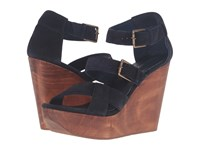 Cordani Decla Navy Suede Women's Wedge Shoes Blue