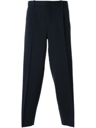Kolor Cropped Trousers Blue