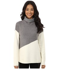 Dkny Love Yarn Funnel Neck Tunic Polar Cream Women's Blouse Bone