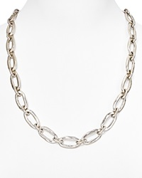 Uno De 50 Chain Link Necklace 24 Silver