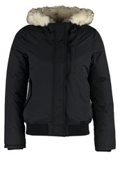 Schott Nyc Freya Down Jacket Navy Blue Black Denim