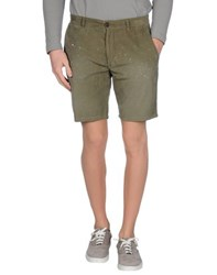 Vintage 55 Trousers Bermuda Shorts Men Military Green