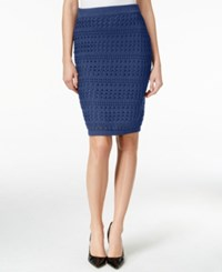 Bar Iii Crocheted Pull On Pencil Skirt Only At Macy's Midnight Kiss