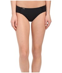 Lole Carribean Bottoms Black Textured Stripe Women's Swimwear