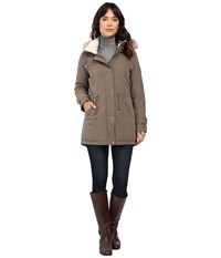 Lauren Ralph Lauren Hooded Anorak Putty Women's Coat Taupe