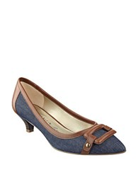 Anne Klein Melanie Kitten Heel Pumps Blue