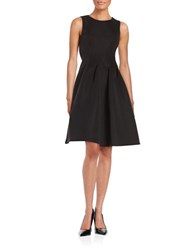 Calvin Klein Ribbed Fit And Flare Dress Black