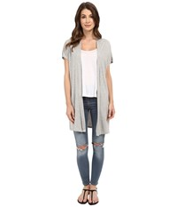 Culture Phit Marciana Modal Cardigan With Side Slits Heather Grey Women's Sweater Gray