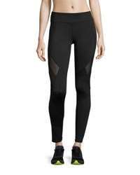 Marc New York Mesh Panel Compression Leggings Black