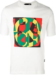 Love Moschino Peace Print T Shirt White