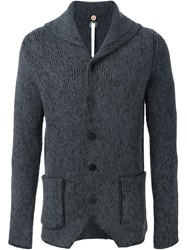 Label Under Construction Buttoned Knit Cardigan Grey