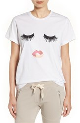 Sincerely Jules Women's 'Lips And Lashes' Graphic Tee