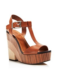 Vince Camuto Oriana Platform T Strap Sandals 100 Bloomingdale's Exclusive Summer Cognac