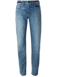 Helmut Lang Stone Washed Boyfriend Jeans Blue