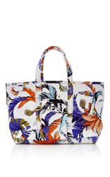 Emilio Pucci Large Jungle Printed Canvas Tote White