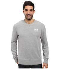 Life Is Good Bold Go To Crew Heather Gray Men's Long Sleeve Pullover