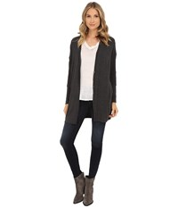Splendid Kodiak Knits Cardigan Charcoal Women's Sweater Gray