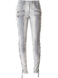 Faith Connexion Lace Up Side Distressed Jeans Grey