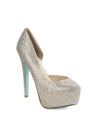 Betsey Johnson Star Platform Stilettos Gold