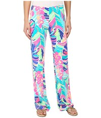 Lilly Pulitzer Georgia May Palazzo Multi Exotic Garden Women's Casual Pants